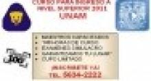 Cursos para Examenes de Ingreso Unam, Ipn y Uam