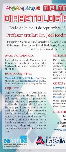 Cartel Diplomado en Diabetología 2015