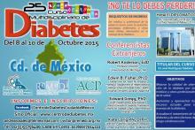Volante 25° Curso Multidisciplinario de Diabetes de la Ciudad de México