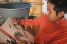 Taller de dibujo - Jovenes de todas las edades, aqui se ve José García