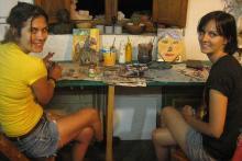 Estudiantes de todas partes del mundo - Taller de Pintura