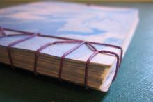 Cuaderno con cosido japones