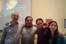 Con nuestro amigo Benjamin Schoendorff del Institut de Psychologie Contextuelle de Montreal.