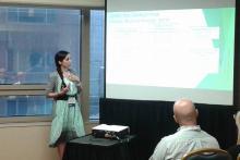 La Dra. Nathalia Vargas en la ACBS World Conference 2014.