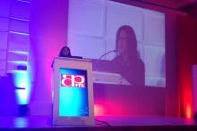 La Mtra. Claudia Ramírez en el Congreso Nacional de Psiquiatría de la APM (2014).