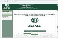 Plataforma Moodle de SPG para la formación On Line