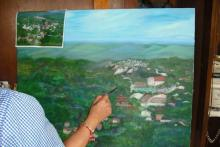 pintura de paisaje al óleo