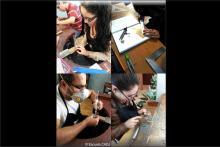 Estudiantes en el taller de joyería