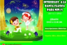 curso de introducción a la danza clásica, también didáctico, lúdico y divertido para l@s pequeñines